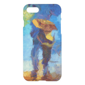 Walking in the Rain iPhone 7 Clear Case