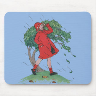 walking in the rain mouse pad