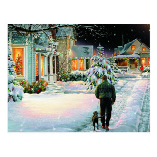 Walking In The Snow Postcard