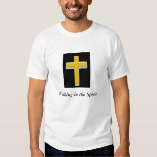 Walking in the Spirit/ Cross Men's T-shirt