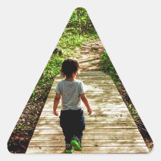 Walking Into the Future Triangle Sticker