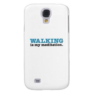 Walking Is Meditation (blue edition) Galaxy S4 Case