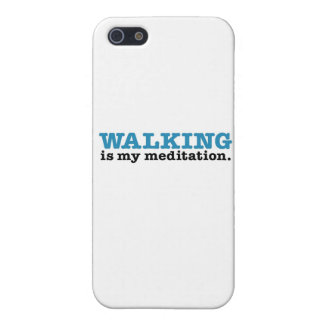 Walking Is Meditation (blue edition) iPhone 5 Covers