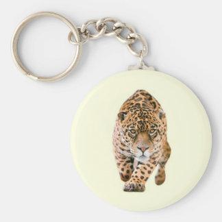 Walking Jaguar Eyes Basic Round Button Keychain