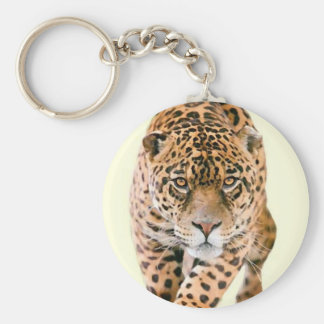 Walking Jaguar Eyes Keychain