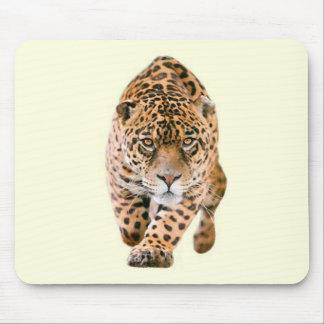 Walking Jaguar Eyes Mouse Pad
