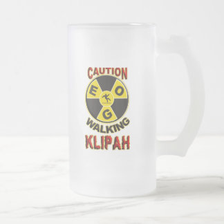 Walking Klipah Frosted Glass Beer Mug