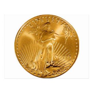 Walking Liberty Coin Post Card