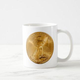 Walking Liberty Golden Coin Classic White Coffee Mug