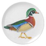Walking Male Wood Duck Plate