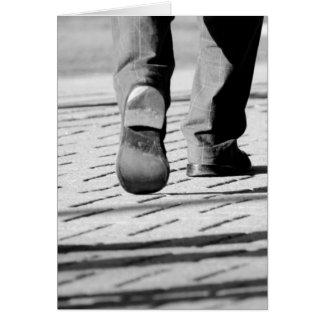 Walking Man Card