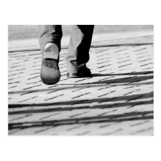 Walking Man Postcard