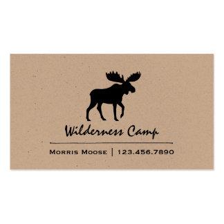 Walking Moose Silhouette Business Card