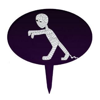 Walking Mummy Cake Pick in Dark Purple