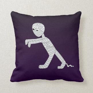 Walking Mummy Decorative Pillow in Dark Purple