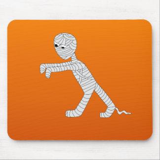 Walking Mummy Mousepad in Orange