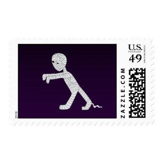 Walking Mummy Stamp in Dark Purple