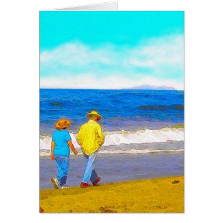 Walking On a Beach Card