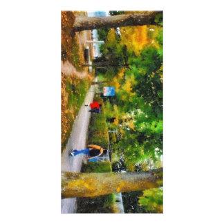Walking on a beautiful path card