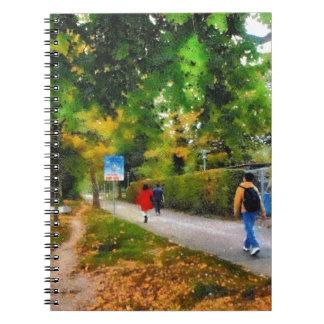 Walking on a beautiful path notebook