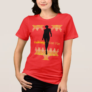 Walking On Fire Women's Red Relaxed Fit JerseyT T-Shirt