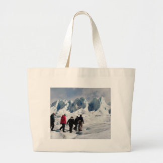 Walking on Perito Moreno Glacier, Argentina Large Tote Bag