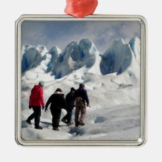 Walking on Perito Moreno Glacier, Argentina Metal Ornament