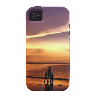 Walking on the Beach at Sunset iPhone 4 Case