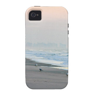 Walking on the Beach at Sunset Vibe iPhone 4 Covers