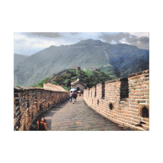 Walking on the Great Wall of China Canvas Print