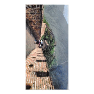 Walking on the Great Wall of China Card