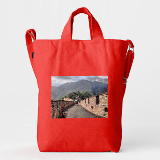 Walking on the Great Wall of China Duck Bag