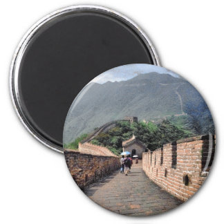 Walking on the Great Wall of China Magnet