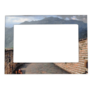 Walking on the Great Wall of China Magnetic Picture Frame