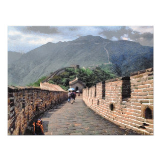 Walking on the Great Wall of China Photo Print