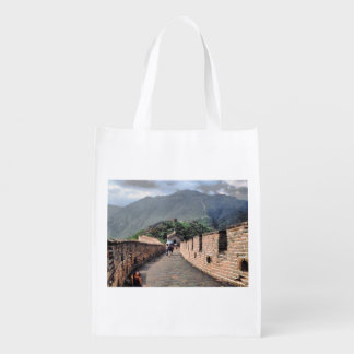 Walking on the Great Wall of China Reusable Grocery Bag