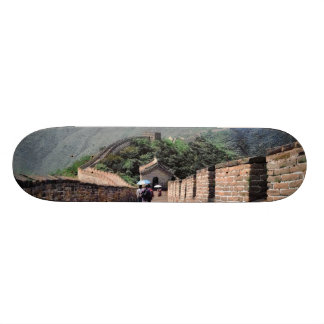 Walking on the Great Wall of China Skateboard Deck