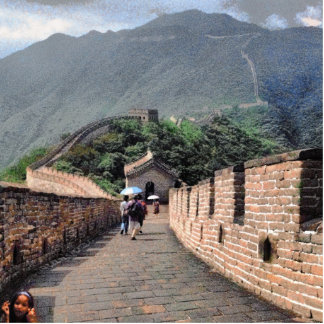 Walking on the Great Wall of China Statuette