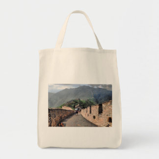 Walking on the Great Wall of China Tote Bag