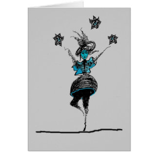 Walking on the High Wire Greeting Card