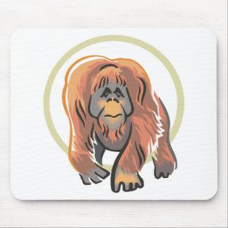 walking orangutan design mouse pad