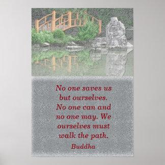 Walking our Path - Buddha quote - art print