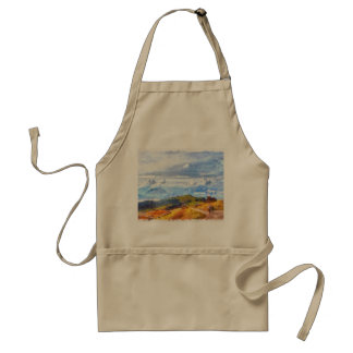 Walking out on a Swiss landscape Adult Apron