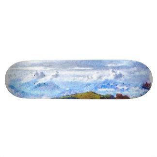 Walking out on a Swiss landscape Skateboard