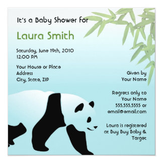 Walking Panda Baby Shower Invitation - Square