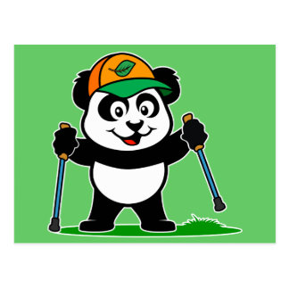Walking Panda Postcard
