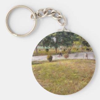 Walking path and greenery keychain