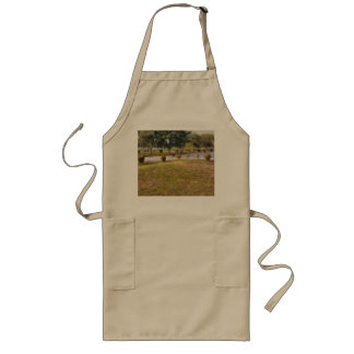 Walking path and greenery long apron
