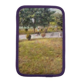 Walking path and greenery sleeve for iPad mini