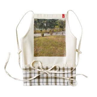 Walking path and greenery zazzle HEART apron